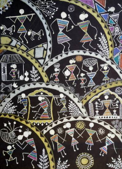 Painting  by Dia Amol Pathare - Warli Painting