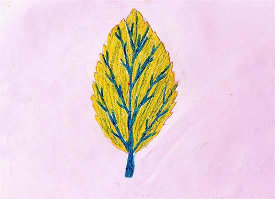 painting by Hasina Ganesh Vaghat - Object drawing - leaf