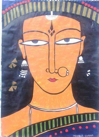 painting by Mishika Chadha - Traditional Art