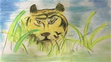 Painting  by Mishika Chadha - Jungle King