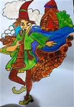 Painting  by Mishika Chadha - Pied Piper