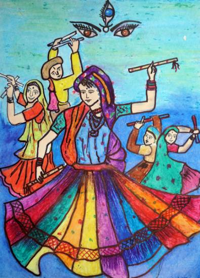 Painting  by Pooja Prashant Khandale - Women Dancing