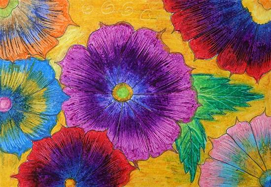Painting  by Radhika Mukesh Shirgade - Flower design