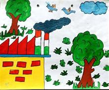Painting  by Seema Singh - Environment