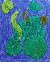 Painting  by Shila Lakhma Dhodhade - Leafs