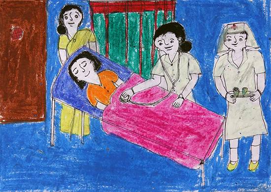 Painting  by Shilpa Sitaram Dombare - Patient Check Up