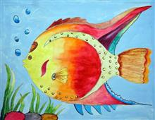 Painting  by Swara Mukund Urade - Fish in River