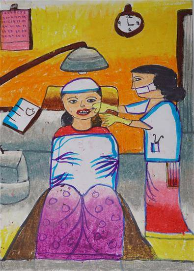 Painting  by Swarnankita Deb - Dental Clinic