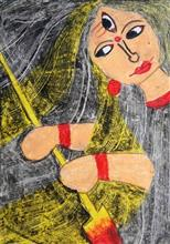 Painting  by Swarnankita Deb - Lord Devi