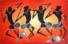Painting by Nupur Sinha - Tribal
