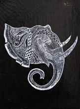 Paintings by Nupur Sinha - Elephant