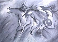 Paintings by Nupur Sinha - Three Horse