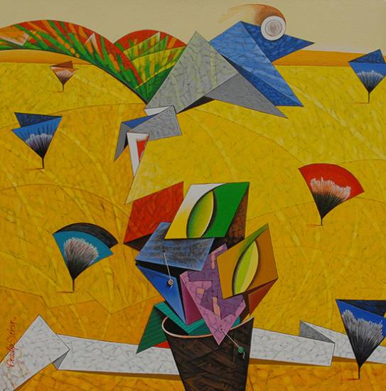 Panorama, painting by Pradip Sarkar