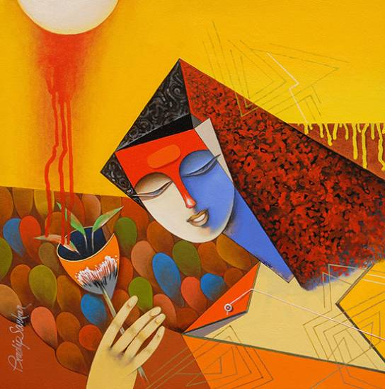 Welcome Song, painting by Pradip Sarkar