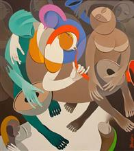 Rhythm and Melodies - VI, Painting by Artist Pradip Sarkar, 