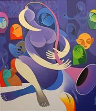 Rhythm and Melodies - VII, Painting by Artist Pradip Sarkar, 