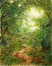 Forest trail, Painting by Artist Nirmal Pathare, 