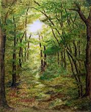 Into the woods, Painting by Artist Nirmal Pathare, 