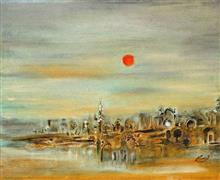 Before Sunset, Painting by Artist Nirmal Pathare, 