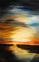 Horizon, Painting by Artist Nirmal Pathare, 