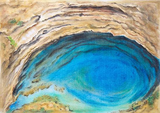 Sinkhole, Painting by Nirmal Pathare