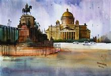 St. Isaac's Cathedral, painting by Aditya Ponkshe