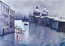 Grand Canal, Venice, painting by Aditya Ponkshe, Watercolour on Paper, 22 x 30 inches