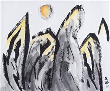 Five Peaks, painting by Nandini Bajekal