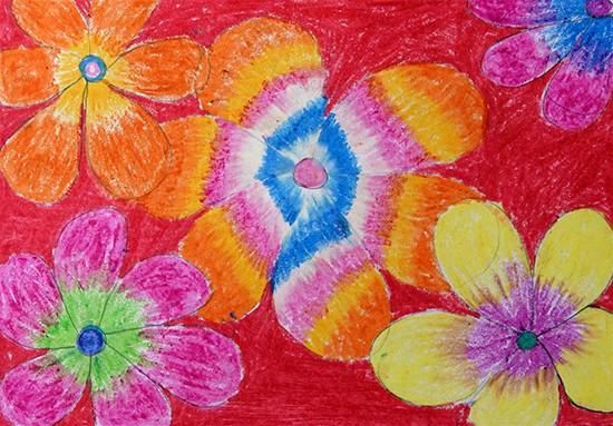 Painting  by Asha Garel - Flowers
