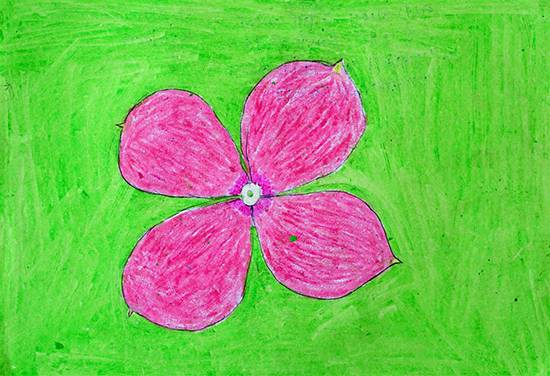 Flower, painting by Asha Garel