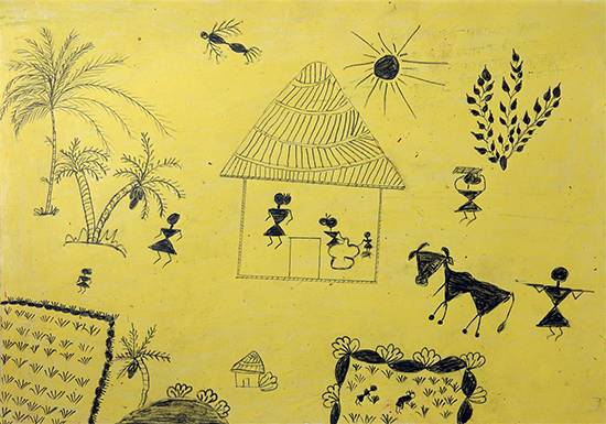 Painting  by Asha Garel - Warli Art