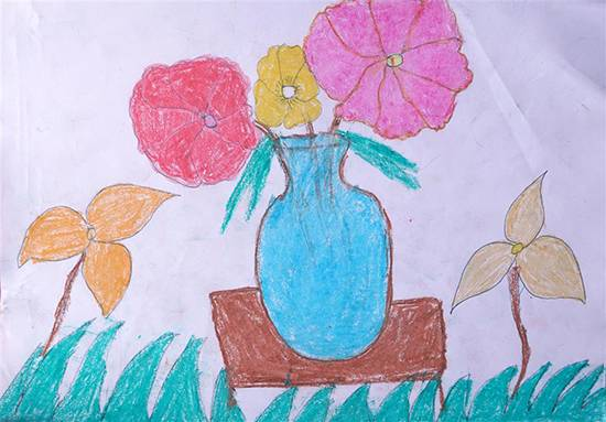 Painting  by Jagruti Ibhad - Flower pot