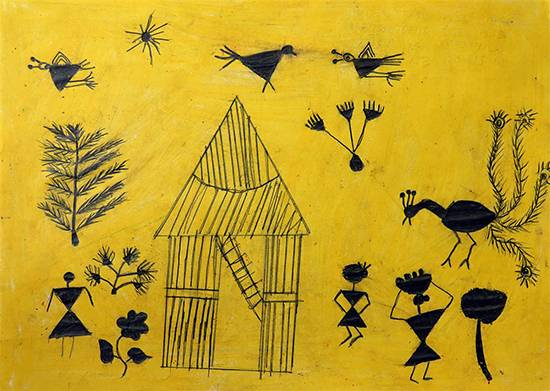 Painting  by Kundana Bhusara - Warli Art