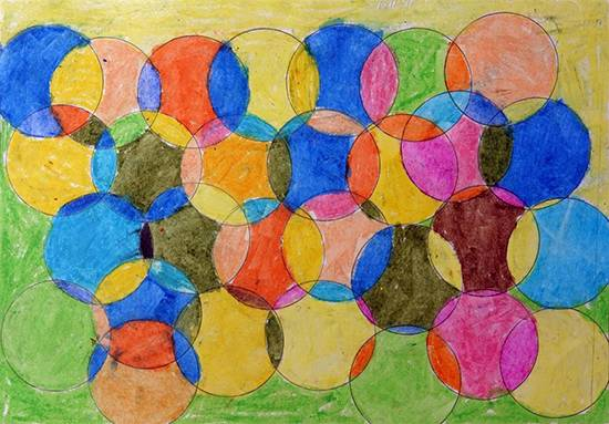 Painting  by Kundana Bhusara - Circular art
