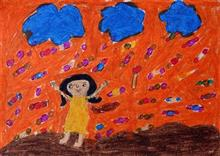 Painting  by Kundana Bhusara - Happy Girl