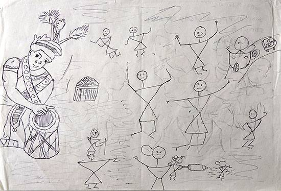 Painting  by Suraj Wangad - Warli Art