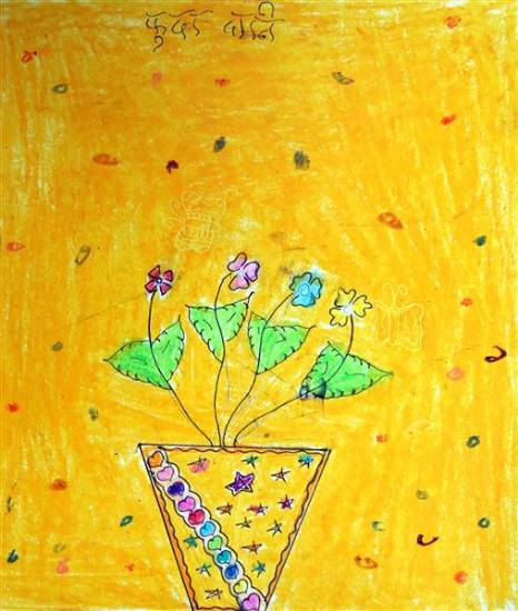 Painting  by Harshada Madha - Flower pot