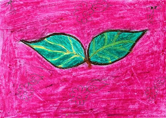 Painting  by Kavita Ranjad - Object drawing - leaf
