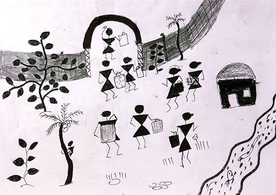 Painting  by Pravin Pachaga - Warli Art