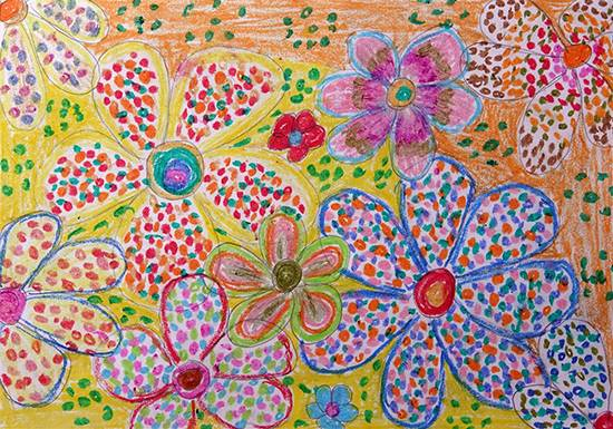Painting  by Sanjivanee Dolhare - Flower shapes