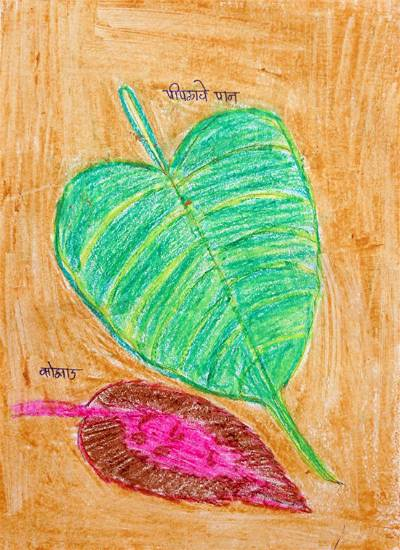 painting by Vaishali Davare - Object drawing - leaf