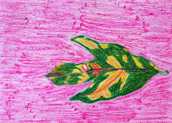 painting by Vaishali Kharad - Object drawing - leaf