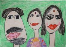 Painting  by Yashranjani Das - Family