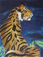 Painting  by Aprit Katkhede - The Bengal Tiger