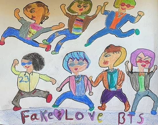 painting by Mehak Borse - BTS Boys