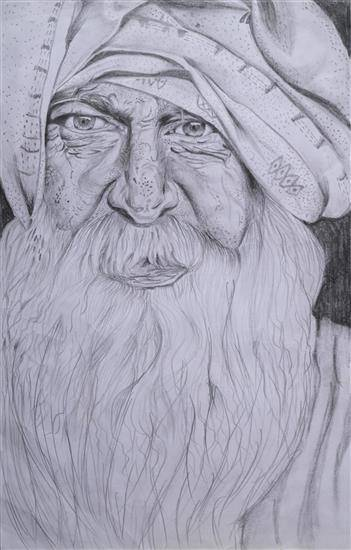 Painting  by Aayush Aryan - AN OLD MAN