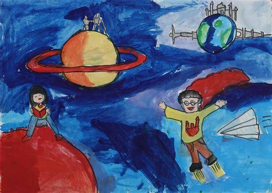 Painting  by Kimaya Malgaonkar - Space make a learning fun