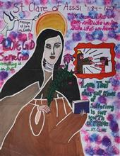 Painting  by Sanika Pathania - St. Clare of Assisi