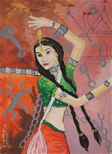 Painting  by Utkarsh Singh - Dancing Girl