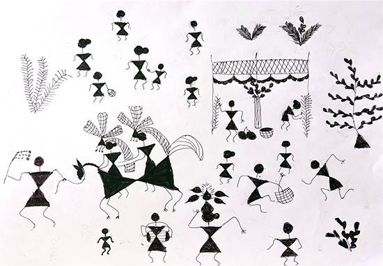 Painting  by Shila Padvale - Warli Art